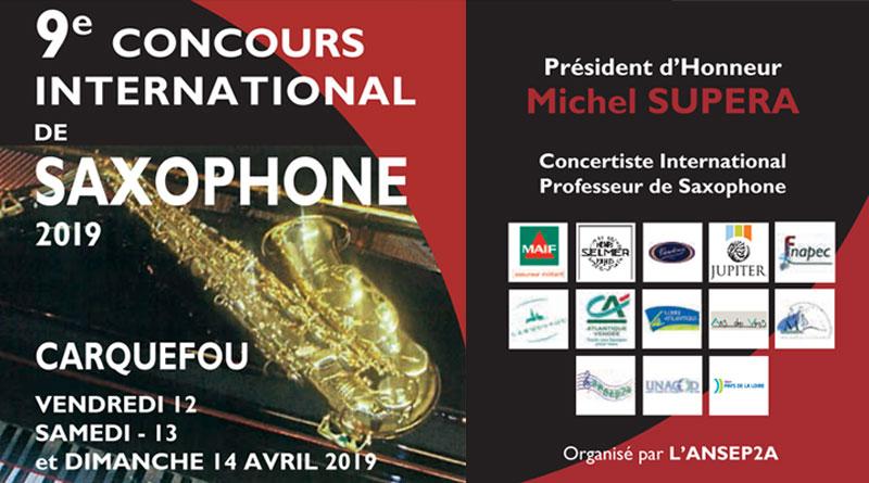 Affiche concours saxophone