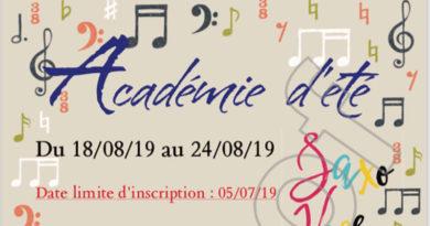 académie d'été saxo voce