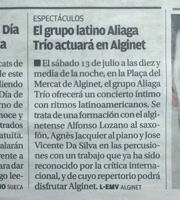 article journal aliaga trio